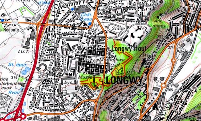 Plan Ville Longwy Haut