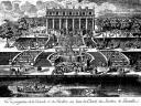 La cascade et le pavillon des jardins du château de Lunéville
